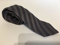 Genuine Gucci Tie in Brown Check 100% Silk