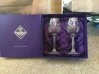 2 Edinburgh Crystal Wine Glasses