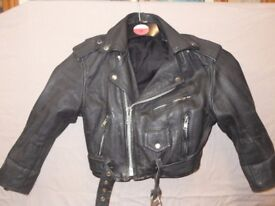 childs brando style bikers leather jacket
