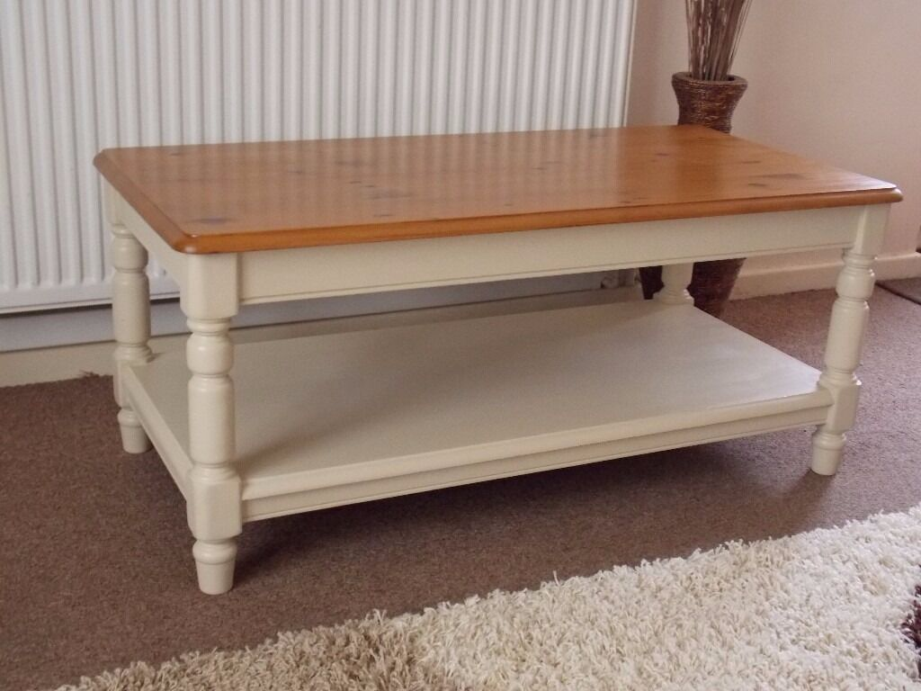shabby chic coffee table painted in annie sloan old ochre cream in hull east yorkshire. Black Bedroom Furniture Sets. Home Design Ideas