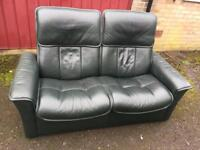 Stressless leather sofa (delivery available)