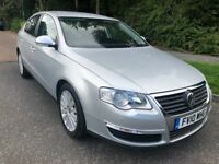 PASSAT 2.0 TDI HIGHLINE 10 REG IN SILVER WITH BLACK LEATHER,SERVICE HISTORY AND FULL BLACK LEATHER