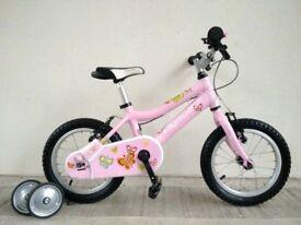"(2727) 14"" Lightweight Aluminium RIDGEBACK Bike Bicycle+STABILISERS Age: 3-5, 95-110cm"