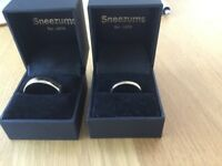 Fairtrade Gold wedding rings, brand new