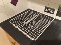 White dish drainer