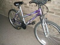 ladies bike hawke attraction 26 inch wheels had little use in fantastic condition front suspension