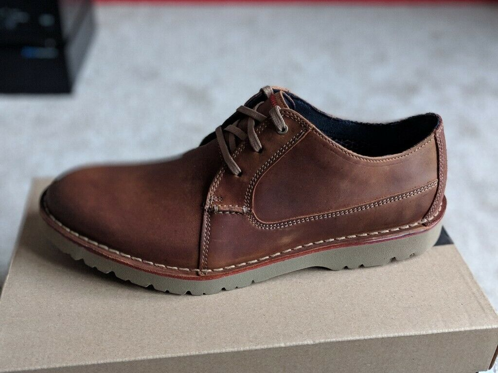 Clarks Vargo Plain Derby Brown 9.5 Shoes New and Unworn | in Newton Mearns, Glasgow | Gumtree
