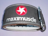 MAXIMUSCLE LEATHER WEIGHTLIFTING BELT