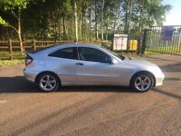 Merecedes c class coupe diesel in really good condition. Full history service MOT Oct 2018