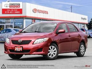 2010 Toyota Corolla CE One Owner, Toyota Serviced