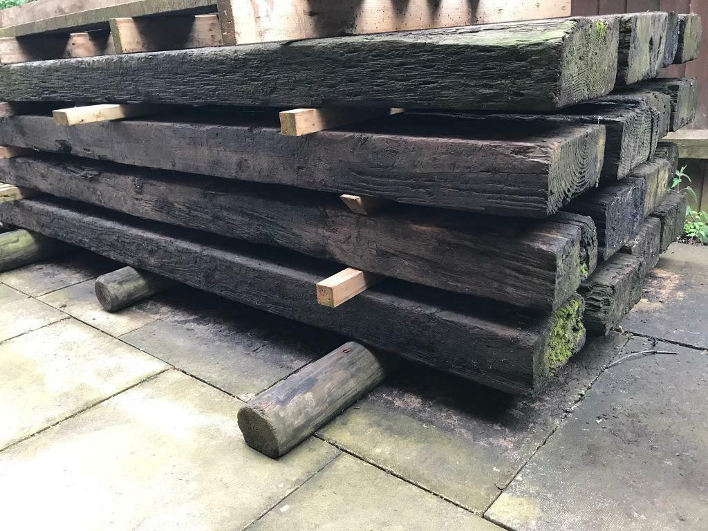 "15 Reclaimed Railway Sleepers 8ft 4 x 10"" | in Grimsby ..."