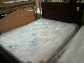 King-size bed frame (modern) #33999 £99 NEW pocket sprung king-size mattress #34010 £200