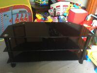 Fairly New Good Condition Black TV Shelving Unit
