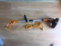 Strimmer height & angle adjustable. Worx WG110E
