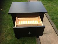 Hemmes Black/Brown 2 draw bedside cabinet