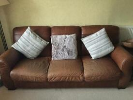 3 seater Italian Contempo Botticelli leather sofa