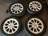 Audi alloys. Very good condition good tyres