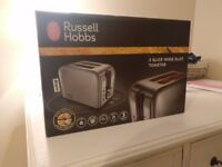NEW Russell Hobbs Canterbury 2-Slice Toaster - Polished Stainless Steel Silver