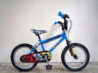 "(2123) 16"" 9.5"" HOTWHEELS 68 Boys Girls Kids Childs BIKE BICYCLE; Age: 5-7; Height: 105-120 cm"