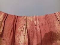 One pair of fully lined curtains and matching Roman blind