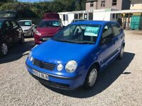 2003 Volkswagen Polo 1.2 E65 *Ideal First Car* 12 MONTHS MOT UPON PURCHASE cheap car cheap polo