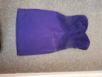 Purple lipsy dress size 10