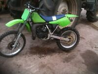 kx 80 big wheel , 82cc dirt bike