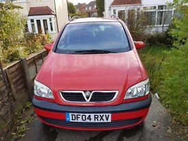 vauxhall zafira 1.6 energy 7 seater MOT july 2018 very low mileage
