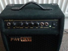 Fat Rat (FR15) Electric Guitar 15W Amp, including 1/4 inch Jack cable