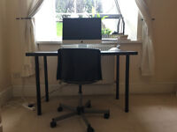 ADILS/LINNMON IKEA desk in black