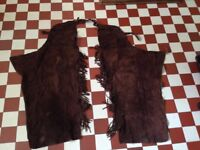 Brown leather chaps (western riding) Size XS