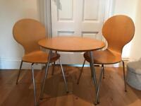 Study or breakfast table with two chairs for children