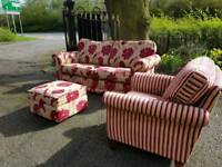 Sofa chair and foot stool delivery available