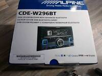 Alpine CDE-W296BT Double Din CD MP3 Aux USB Bluetooth iPod iPhone Car Stereo Radio Player