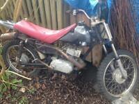 Suzuki mx100 80s kids mx bike pit bike for restoration twinshock