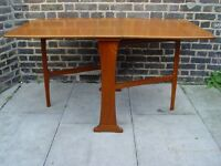 FREE DELIVERY Mid Century Wooden Gate Leg Table Retro Furniture