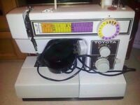Toyota sewing machine in working order