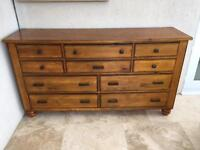 BEAUTIFUL Large Solid wood chest of draws unit.