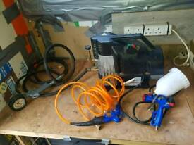 Compressor spray gun tyre pump car motorbike truck