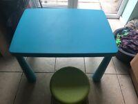 Ikea children's table & stool