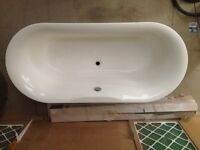 Double Bathtub Shower Combo