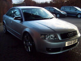 2004 AUDI A4 SPORT TDI HIGHER BRAKE REFURBISHED PAINT UPGRADED ALLOYS EXTRAS NEW MOT FSH £2800