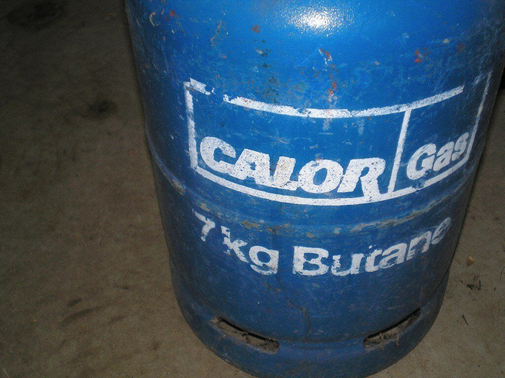 Butane gas bottle 7.5kg in good condition,still has some gas.