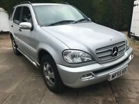 2005 55 MERCEDES ML 320 350 500 270 LOW GENUINE 94K HISTORY PRESTINE CAR FULL LEATHER PX SWAPS