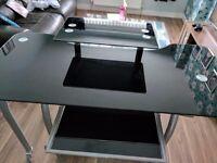 Glass adjustable Computer Desk