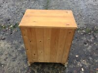 PINE FOUR HEIGHT CHEST OF DRAWERS