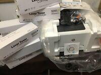 Color laser jet printer and toner cartridges