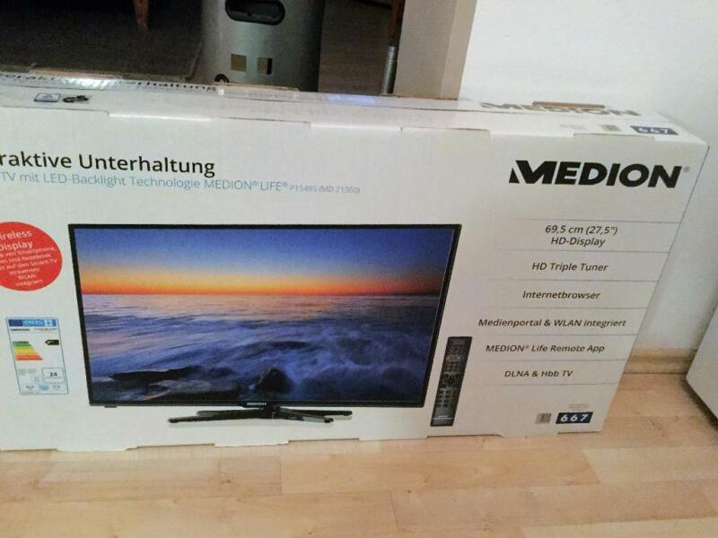 medion md 21360 hd fernseher mit wlan neu in wuppertal wuppertal cronenberg fernseher. Black Bedroom Furniture Sets. Home Design Ideas