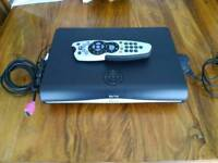 Sky plus HD box with remote and cables