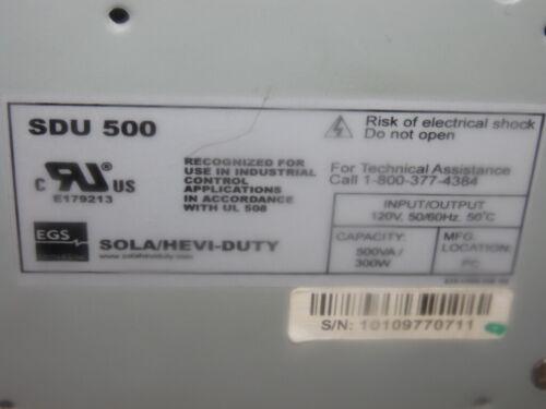 USED Sola SDU 500 Industrial UPS Power Supply Capacity 500VA 300W